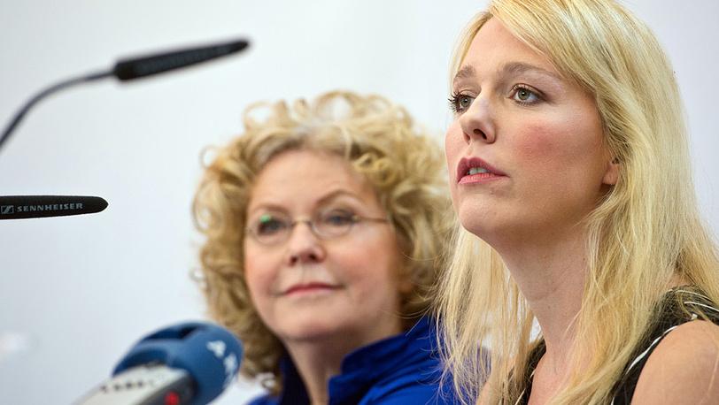 Ева (слева) и Катарина Вагнер - правнучки композитора