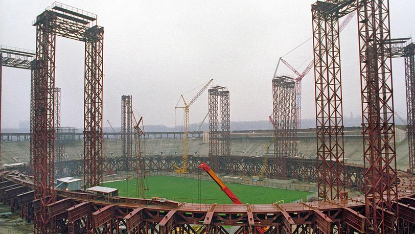 Реконструкция Большой спортивной арены. 1996 год. Фото ИТАР-ТАСС/Валерий Христофоров