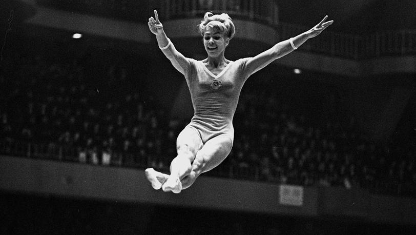 Лариса Латынина на Олимпиаде 1964 года