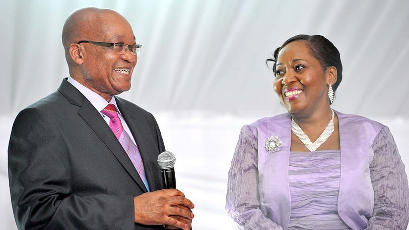 Молодожены Джейкоб Зума и Бонги Нгема