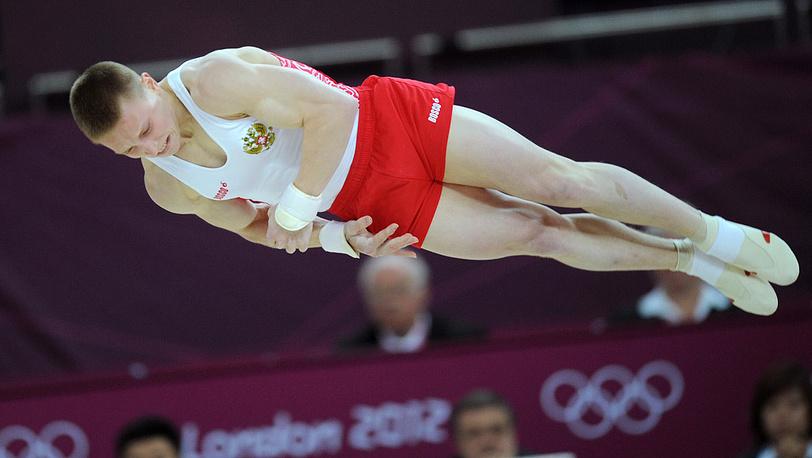 Денис Аблязин, бронзовый призер соревнований по спортивной гимнастике в вольных упражнениях