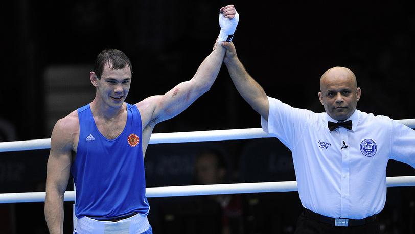 Е. Мехонцев - чемпион по боксу в весе до 81 кг