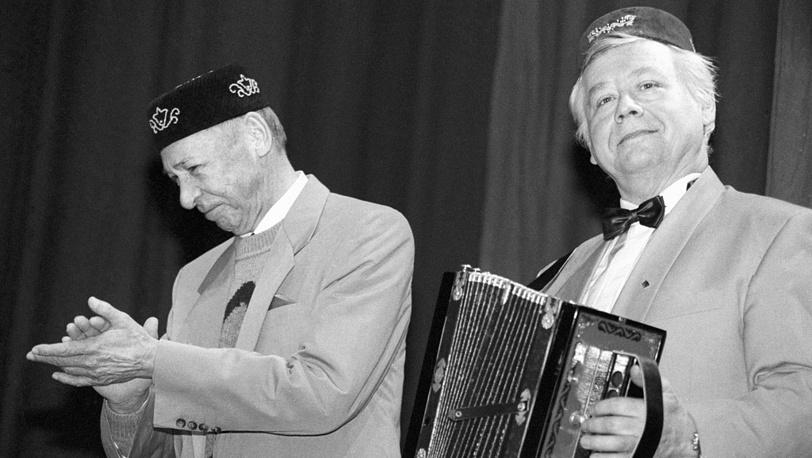 Олег Ефремов и Олег Табаков. 1993 год