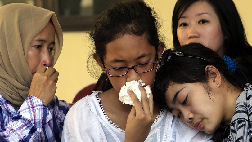Родственники жертв катастрофы