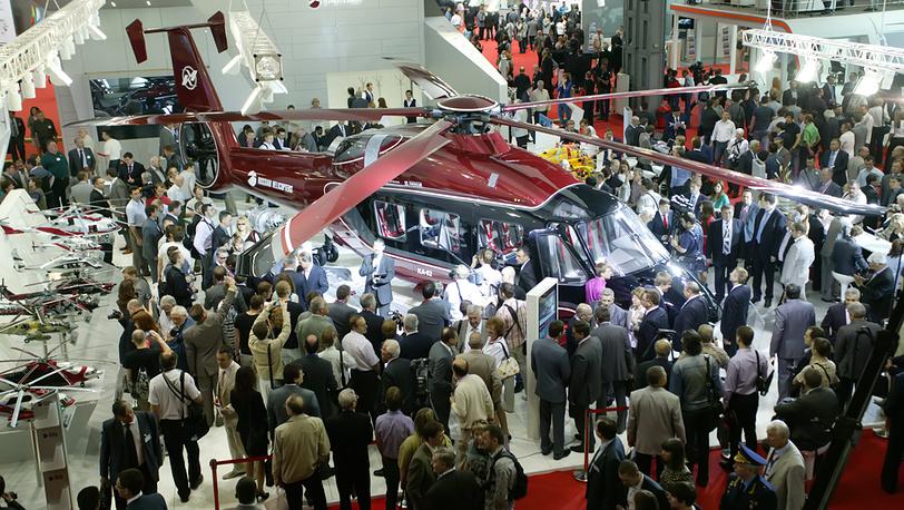Презентация нового вертолёта Ка-62 на выставке HeliRussia-2012