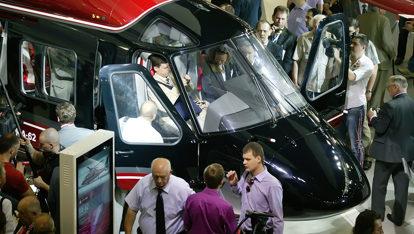 Вертолёт Ка-62 на выставке HeliRussia-2012