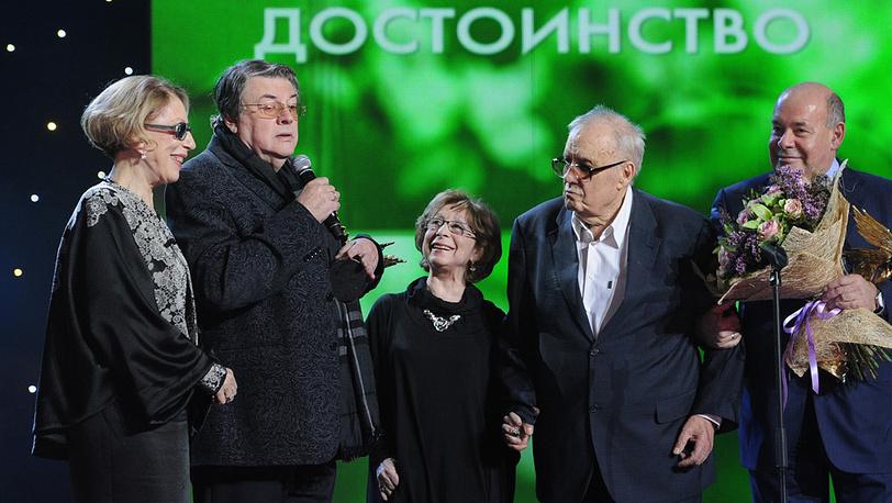 Инна Чурикова, Александр Ширвиндт, Лия Ахеджакова, Эльдар Рязанов и Михаил Швыдкой