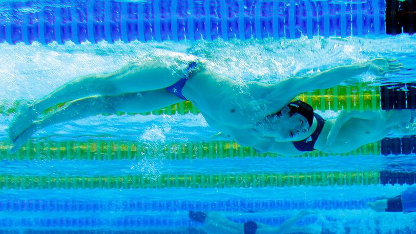На турнире по плаванию