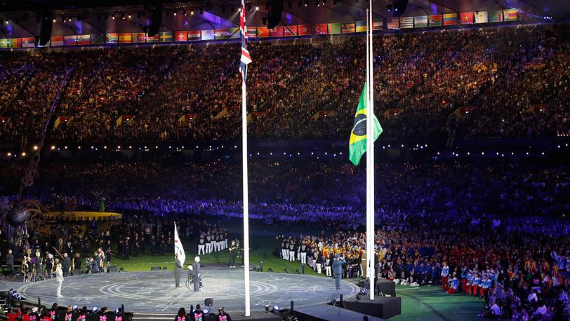 Церемония передачи Паралимпийского флага