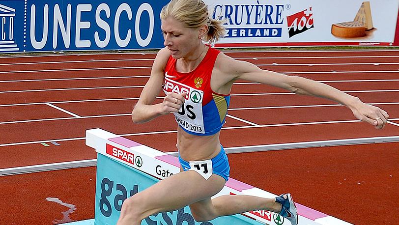 Наталья Аристархова - победа в беге на 3000 м в препятствиями