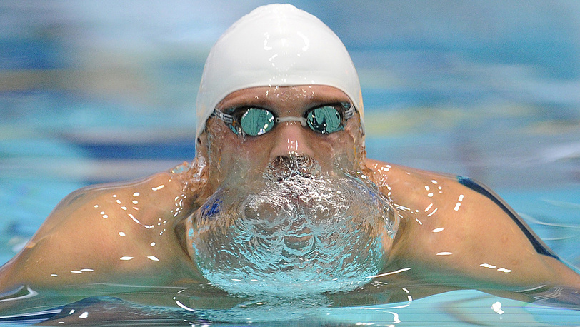 Сергей Гайбель, занявший 3-е место на дистанции 100 м брассом
