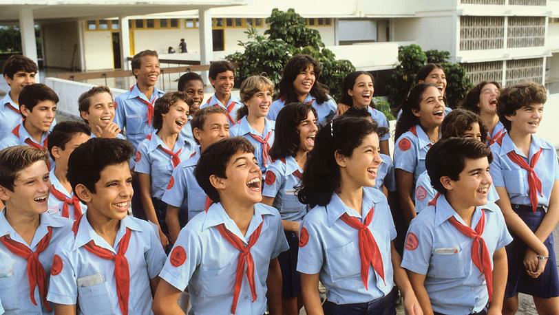 Школьная форма на Кубе, Гавана, 1982 год