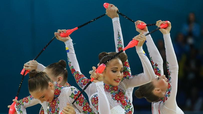 Украинки во время выступления