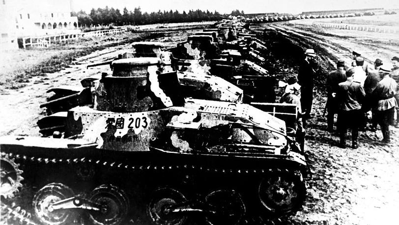 Японские танки. 1945.  Фото ЦГАФК
