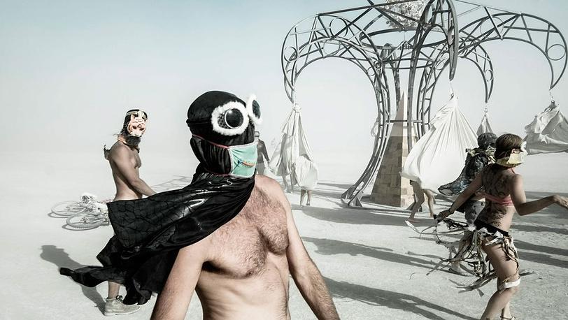 Эрик Буве. Фестиваль Burning Man, ежегодно происходящий в штате Невада в пустыне Блэк Рок, август 2012 г.