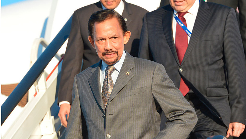 Султан Брунея Хассанал Болкиах. Фото EPA/ALEXEY KUDENKO / POOL