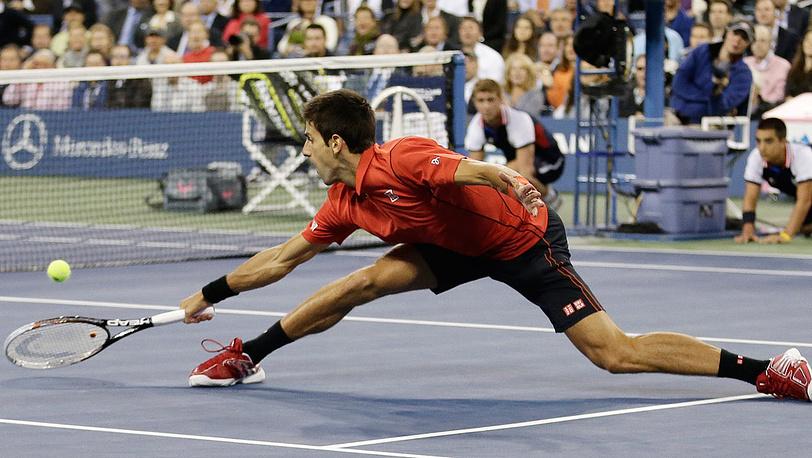 Новак Джокович, проигравший в финале Рафаэлю Надалю. Фото ЕРА/JASON SZENES