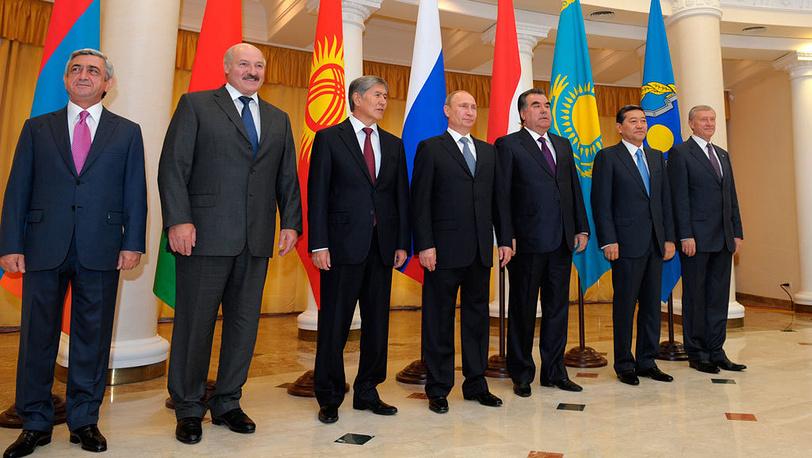 Президенты государств-членов ОДКБ. Фото  ИТАР-ТАСС/Алексей Дружинин