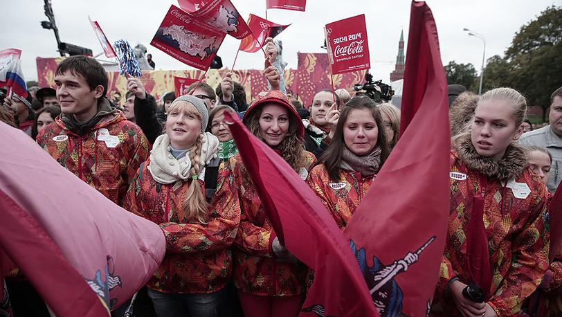 Старт первого этапа эстафеты олимпийского огня по территории России на Красной площади. Фото ИТАР-ТАСС/ Денис Вышинский