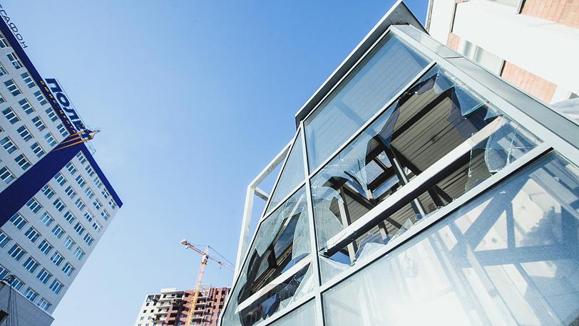 Окна городского здания. Фото ИТАР-ТАСС/ Евгений Хажей