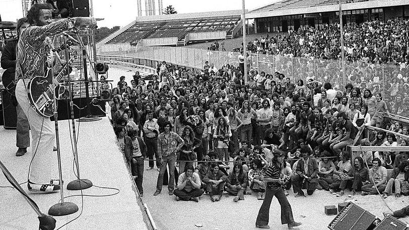 Чак Бэрри, Лонг Айленд, США.  12 августа 1972 г. Фото АР
