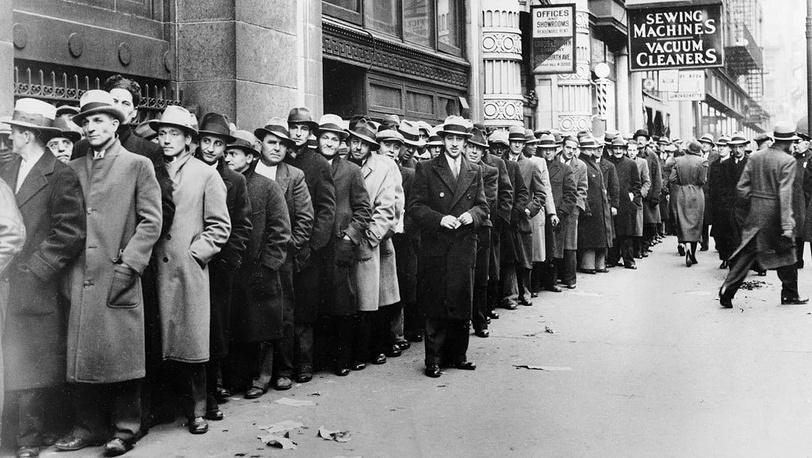 Очередь безработных в Нью-Йорке. 24 ноября 1933 года. Фото АР
