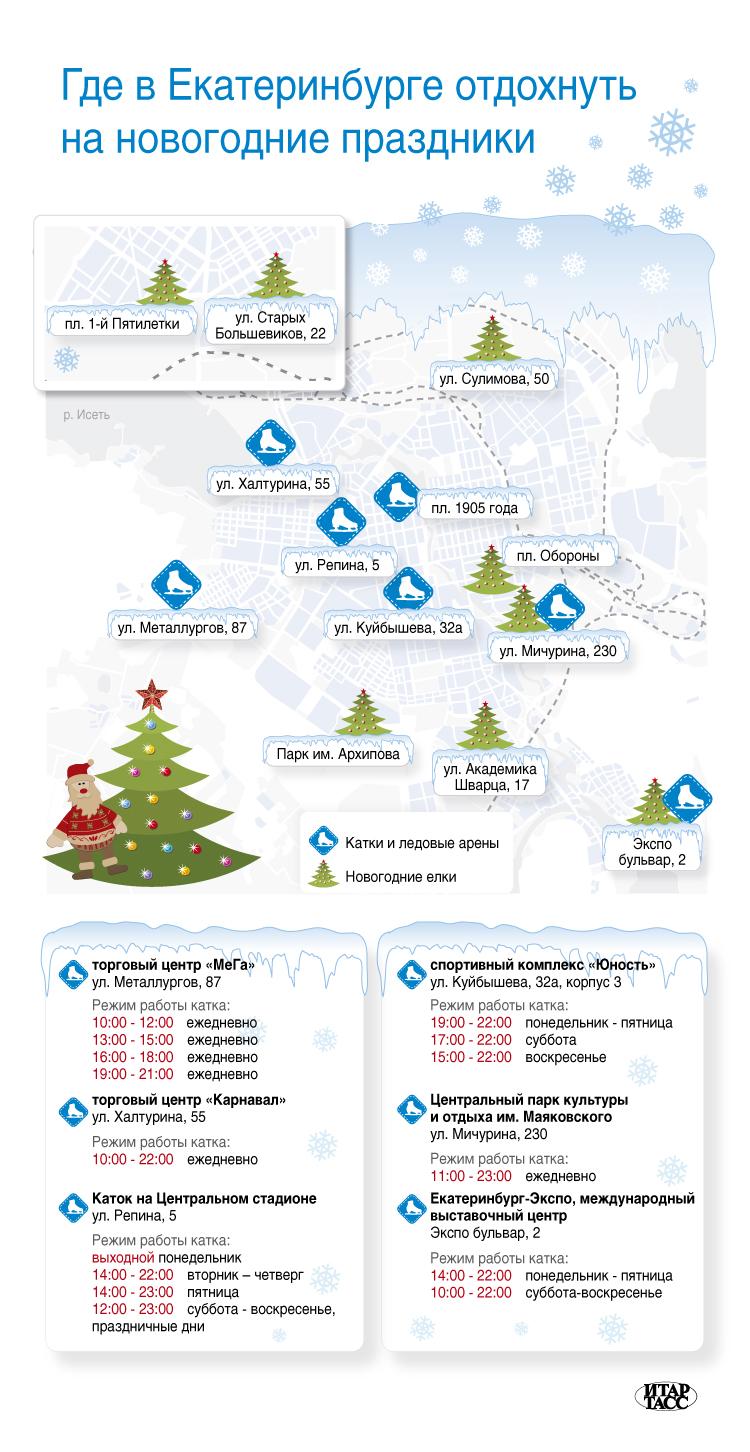 Где в Екатеринбурге отдохнуть на новогодние праздники