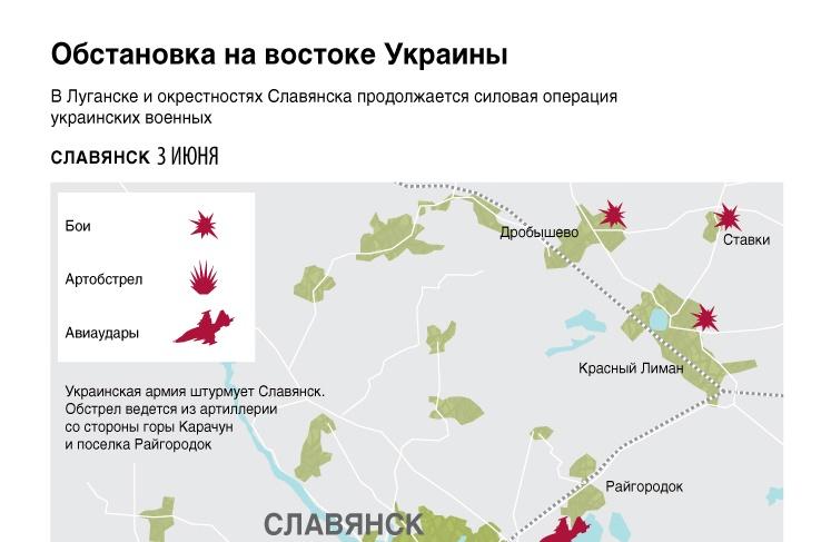 Обстановка на востоке Украины