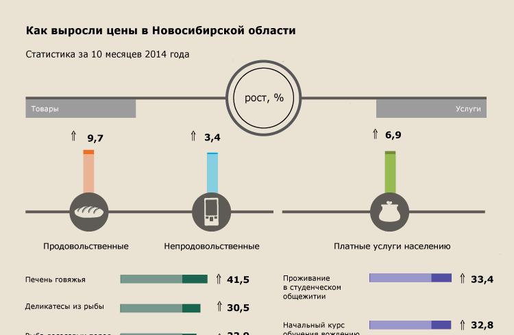 Как выросли цены в Новосибирской области