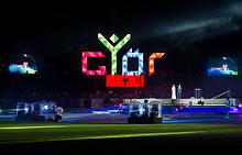 Церемония открытия летнего Европейского юношеского олимпийского фестиваля в Дьере
