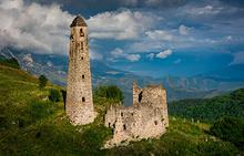 Фамильные башни в горном районе Ингушетии