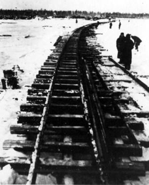 Строительство узкоколейки на Ладоге