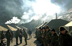 Застава погранотряда в Аргунском ущелье, 2000 год