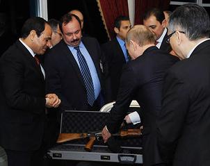 Президент Египта Абдель Фаттах ас-Cиси и президент России Владимир Путин