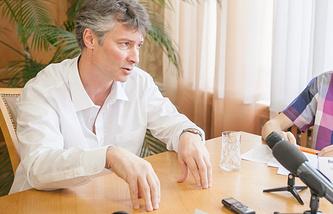 Мэр Екатеринбурга Евгений Ройзман во время встречи с блогерами