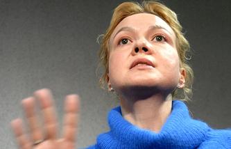 9 января 2014 года. Бывший шеф-редактор новостного сайта URA.RU Аксана Панова во время перерыва оглашения приговора в Ленинском районном суде Екатеринбурга