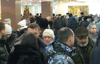 Вкладчики в офисе Новокузнецкого муниципального банка