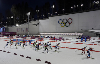 Женский масс-старт на Олимпийских играх в Сочи
