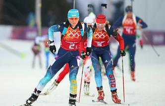 Украинка Вита Семеренко и россиянка Яна Романова (слева направо)