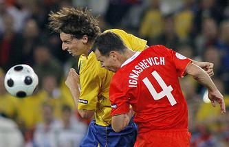 Матч сборных России и Швеции на Евро-2008