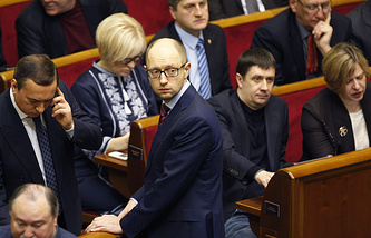 Кандидат на должность премьер-министра Украины Арсений Яценюк