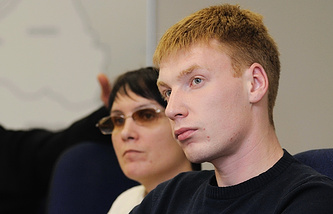 Егор Бычков и адвокат Анастасия Удеревская
