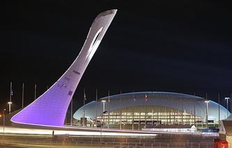 """Вид на олимпийский стадион """"Фишт"""""""