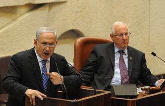 Биньямин Нетаньяху и Реувен Ривлин