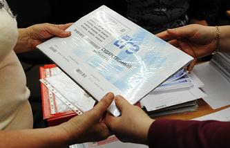 Сдача ЕГЭ по русскому языку в одной из школ Екатеринбурга