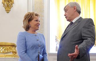 Валентина Матвиенко и Георгий Полтавченко