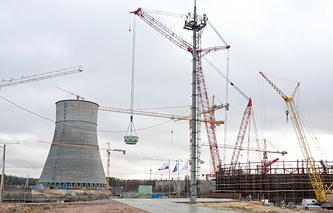 Строительная площадка  ЛАЭС-2