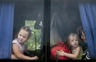 Беженцы, Славянск