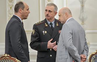 Андрей Парубий, Михаил Коваль и Александр Турчинов