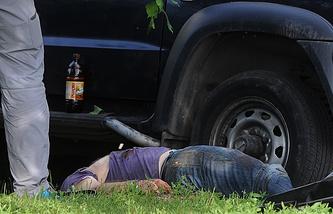Тело бывшего генерала вооруженных сил Грузии, экс-командира 25-й Батумской бригады Романа Думбадзе, застреленного  на Рублевском шоссе